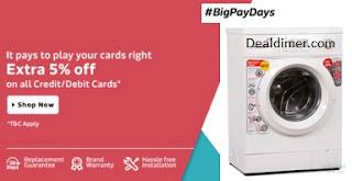 Flipkart #BigPayDays offer to buy large appliances at lowest price