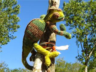 Camaleón de crochet