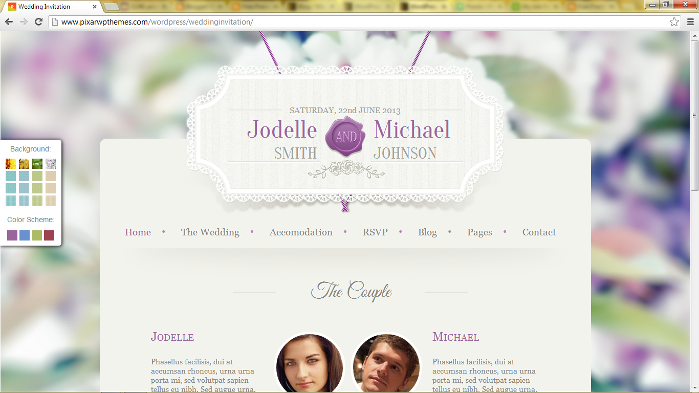 Free Premiuim Wordpress themes: Wedding Invitation - Premium ...