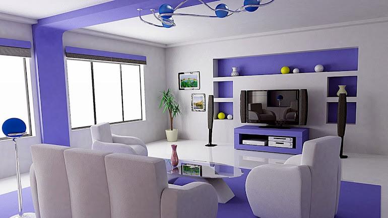 Interior Design bright room Futuristic modernism