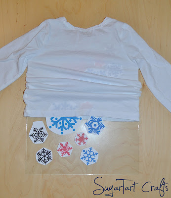 making a snowflake shirt