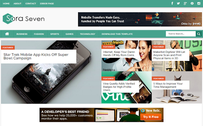 Download Sora Seven Template SEO Responsive