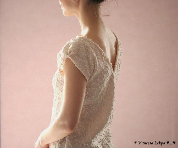 tuto patron couture gratuit pull d'été printemps tissu style chanel plumetis beige crème blanc