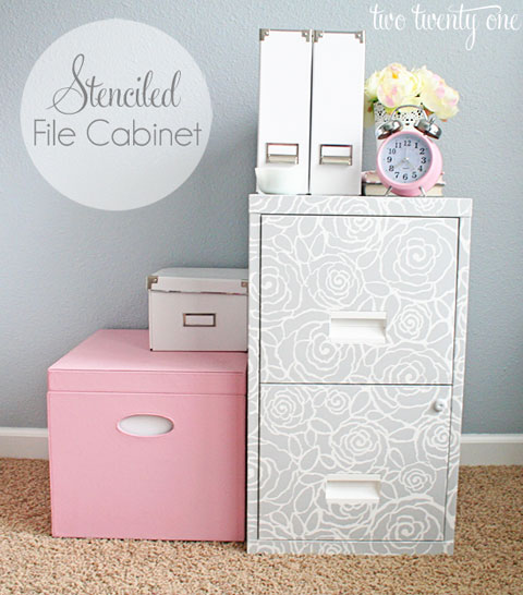 how to make a metal file cabinet look better