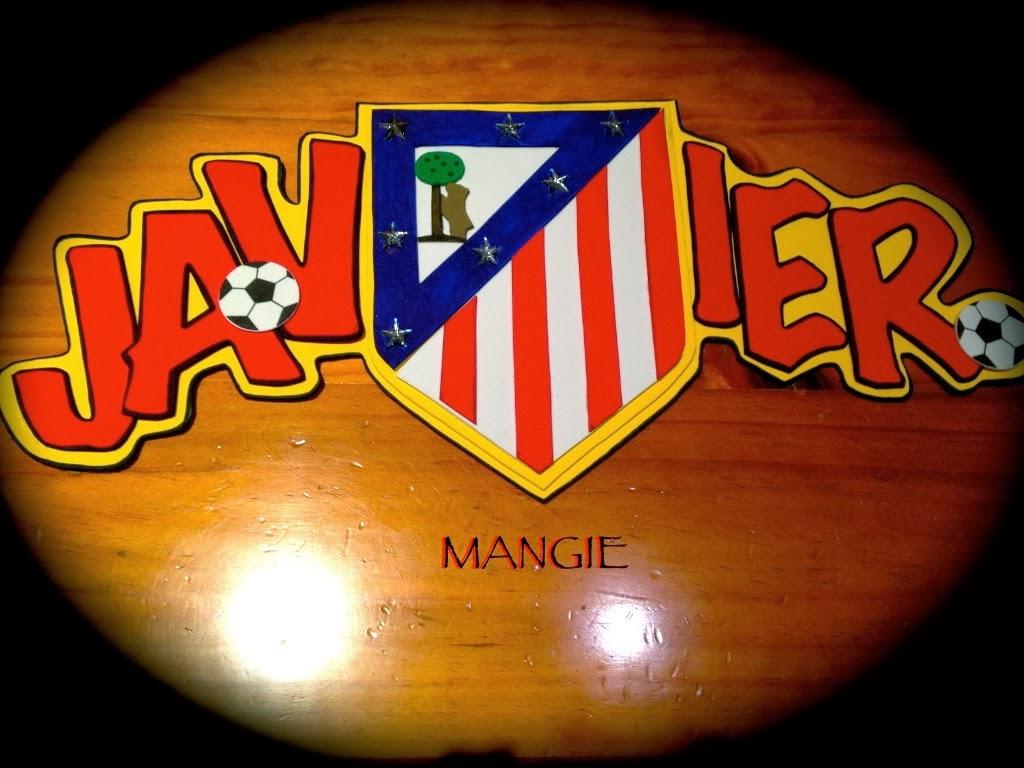 Letrero foamy escudo atlético madrid