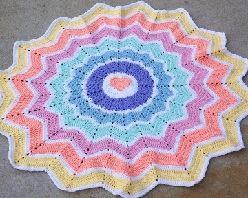Rainbow Heart Round Ripple 15 points