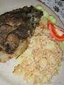 Zsírban sült tarja krumplis tarhonyával