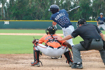 Chris Murrill at the plate for the Stone Crabs