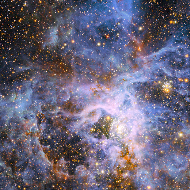 New ESO Image of Star-Forming Region R 136 in the LMC