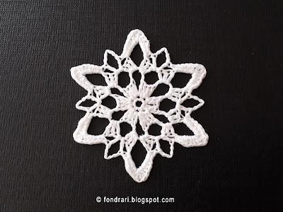 Heklað snjókorn - Snoqualmie Snowflake
