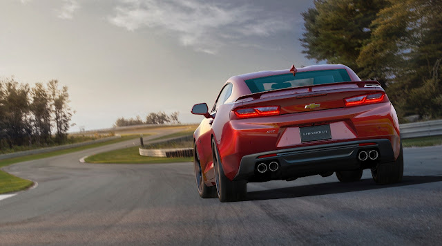 2016 Chevrolet Camaro SS red rear