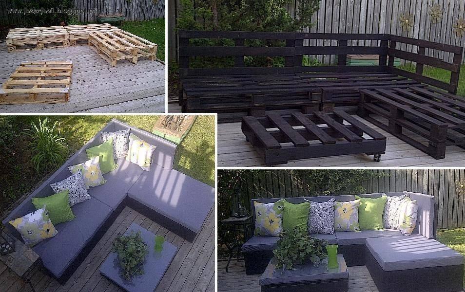 Preferência Fazer Fácil: Sofá de Jardim em paletes de madeira XD31