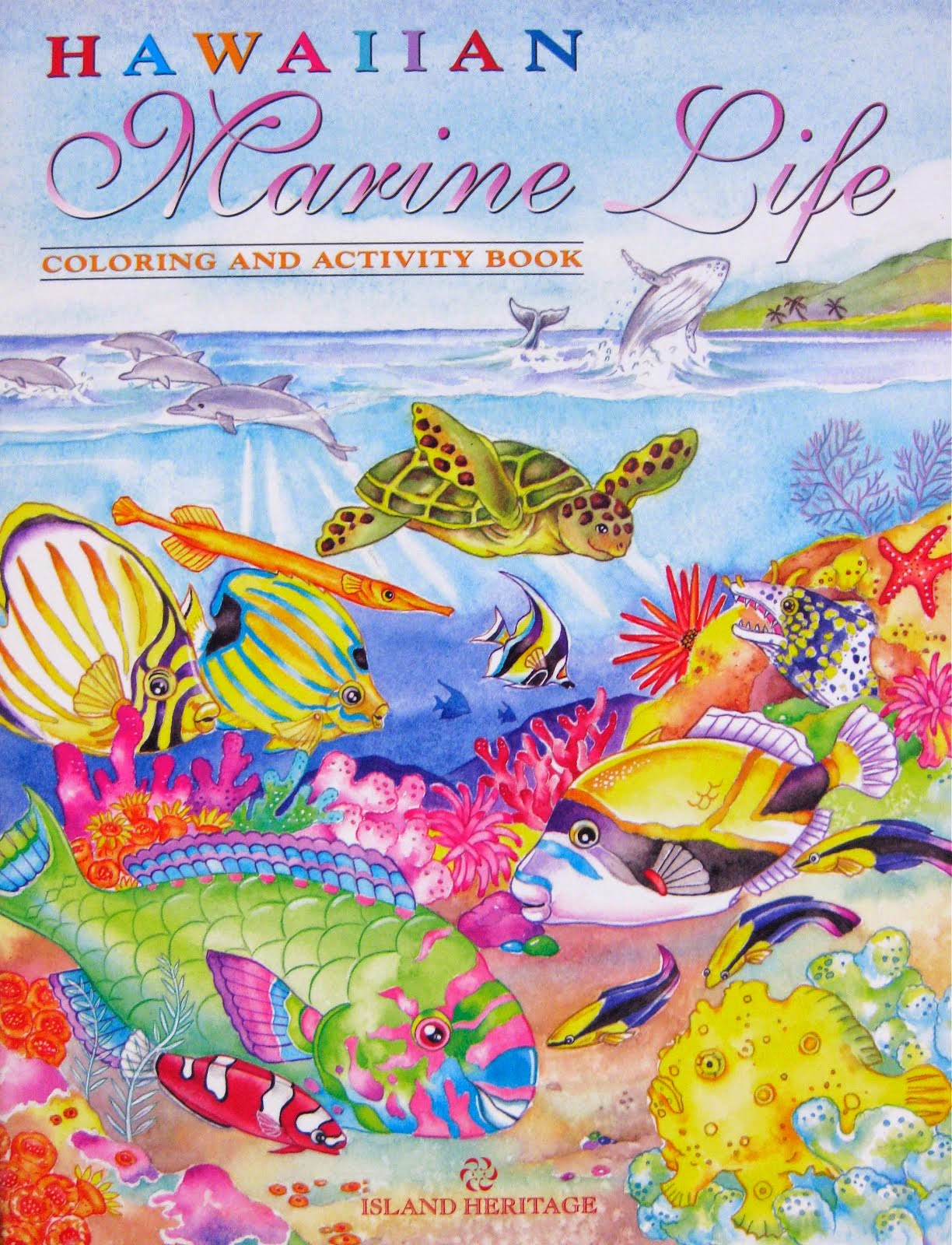 Hawaiian Marine Life coloring and activity book