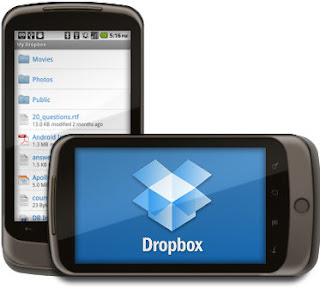 Dropbox Application on Android Device