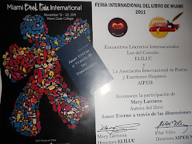 Amor Eterno a traves de las dimensiones en La Feria Internacional del  Libro-Miami- Mery Larrinua