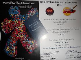 Amor Eterno a traves de las dimensiones en La Feria Internacional del  Libro-Miami- Mery Larrinua