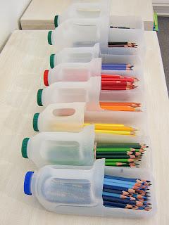 reciclagem com garrafas