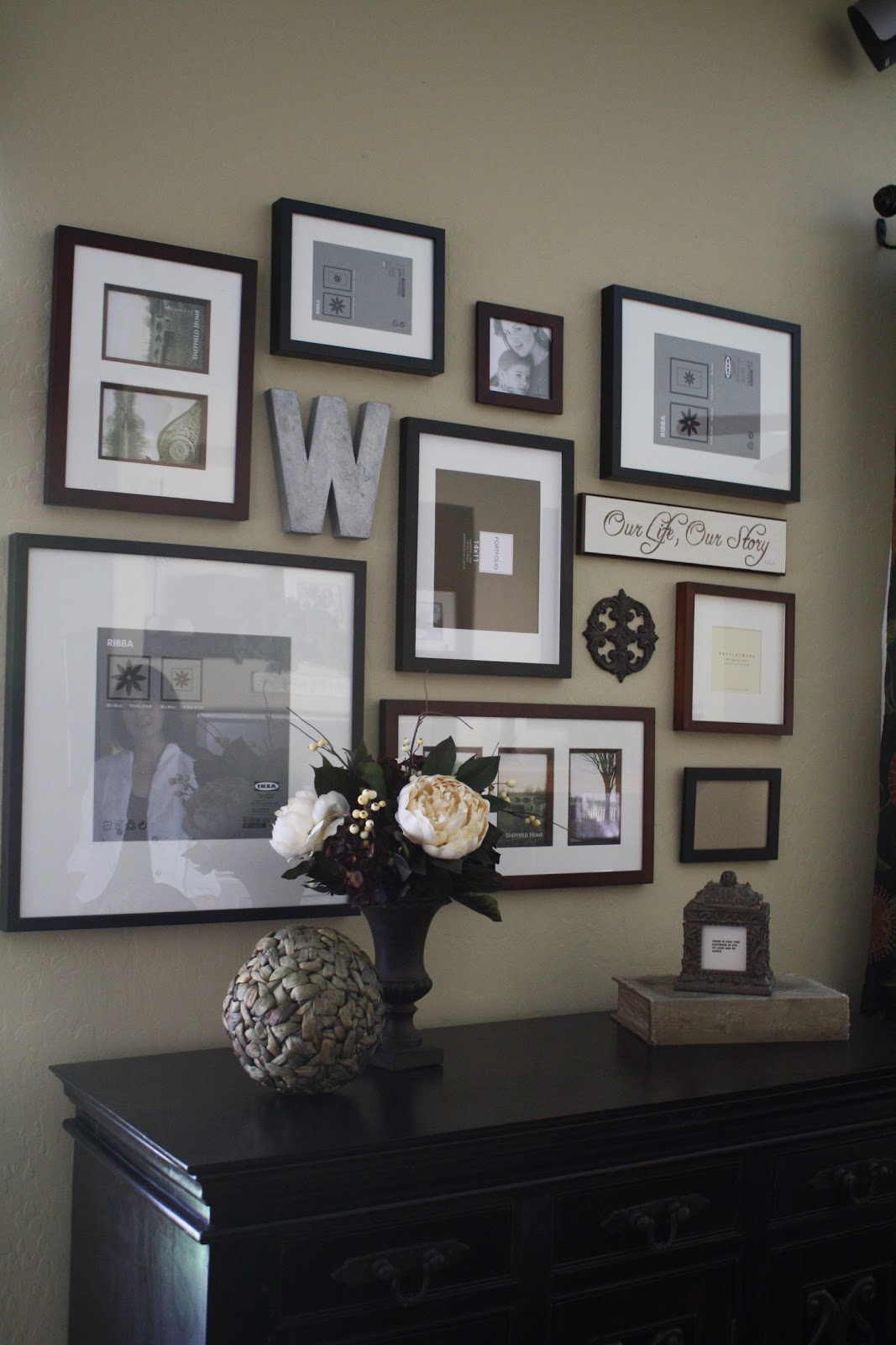 Wall Art Placement Ideas : Project home frame wall