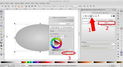 Inkscape - definindo transparência