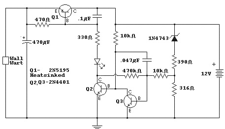 bank circuit electronica cut out battery charger