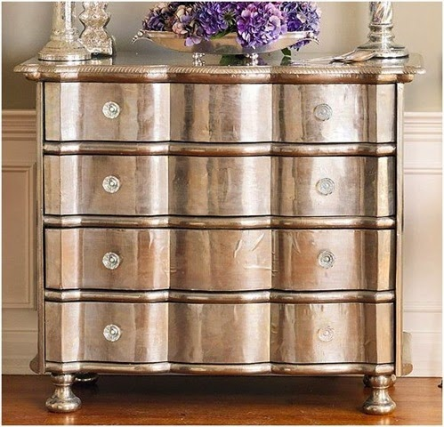 metallic paint furniture