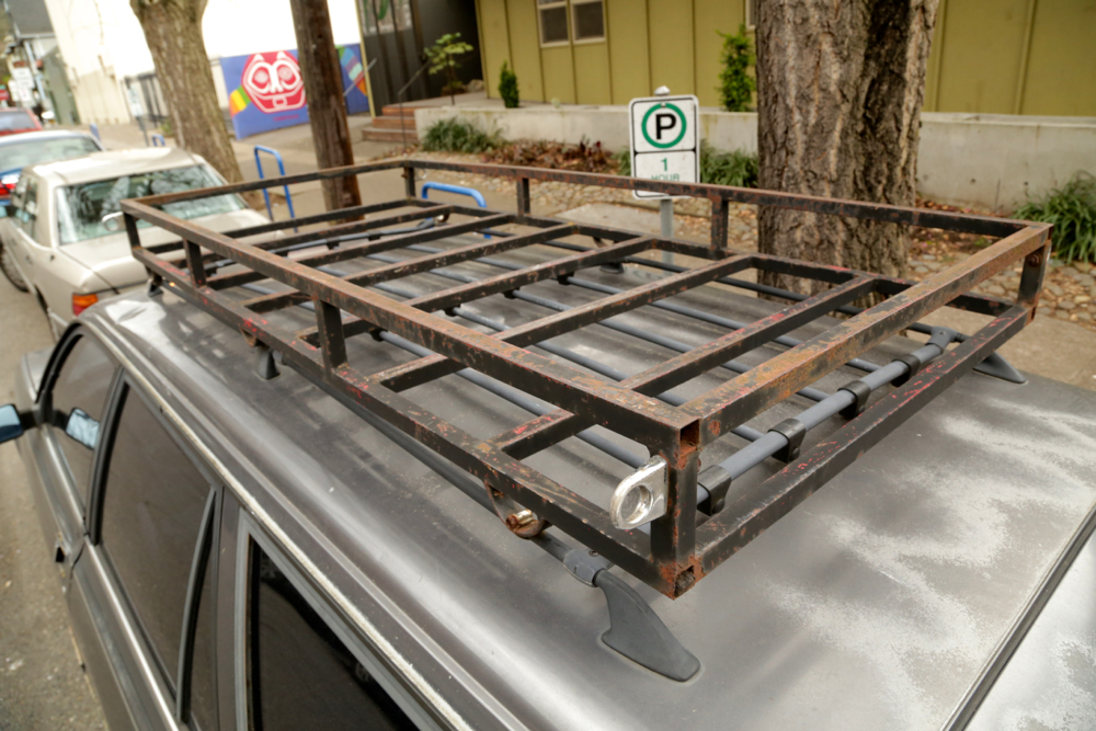 custom cargo basket roof rack