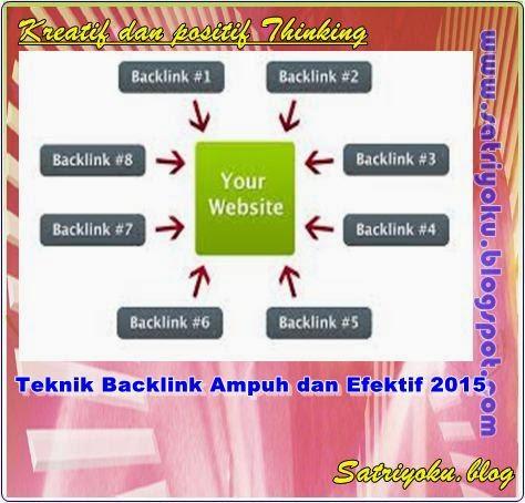 Teknik Backlink Ampuh dan Efektif 2015