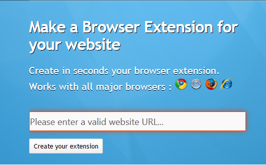 Proposez une extension de votre blog Blogger pour les navigateurs Google Chrome, Firefox, Safari et internet explorer