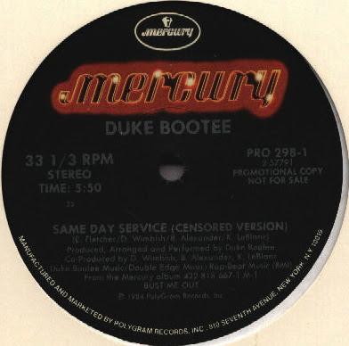 Duke Bootee – Same Day Service (Censored Version) (1984, VLS, 256)
