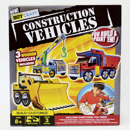 Flip Out Mama Hot Gift Boy Craft Construction Vehicles Kit