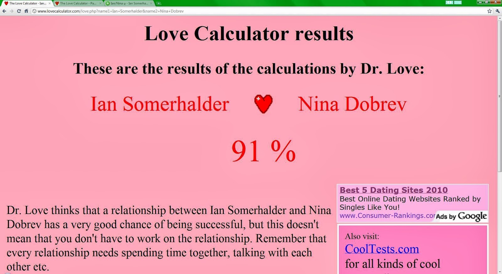 Uncategorized Thelovecalculator anie superwert love calculator calculator