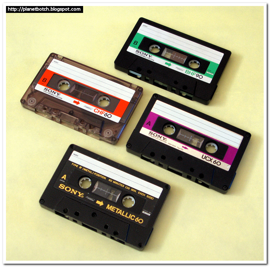 early 1980s Sony audio cassette tapes