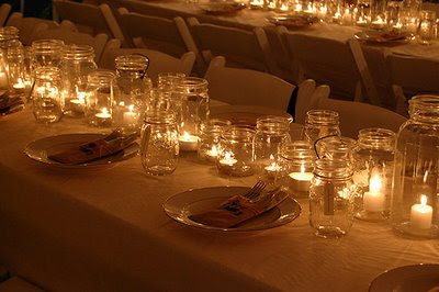 Mason Jars Decorations Wedding