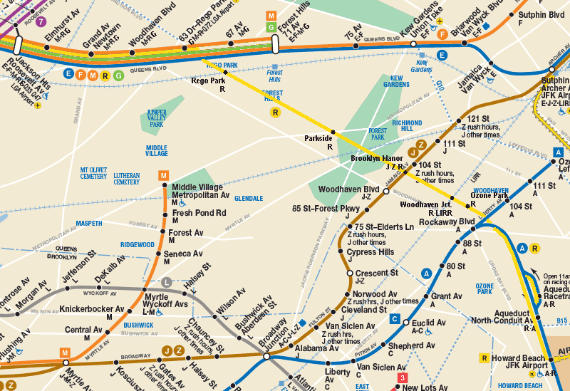 link the r to jfk via the rockaway beach branch second ave