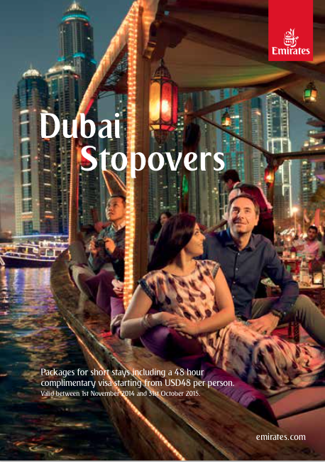 Emirates' Dubai Stopover Package Brochure
