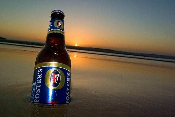 Bottle of Fosters beer