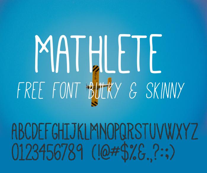 Download Font Handletter Tulisan Tangan Terbaik - Mathlete Font