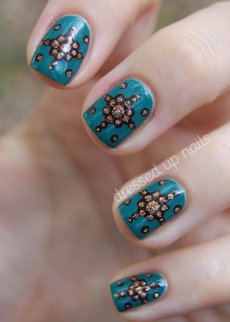 China Glaze On Safari nail art - China Glaze Exotic Encounters, Call of the Wild, I Herd That