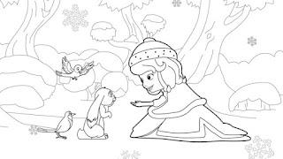 Gambar Diwarnai Putri Sofia