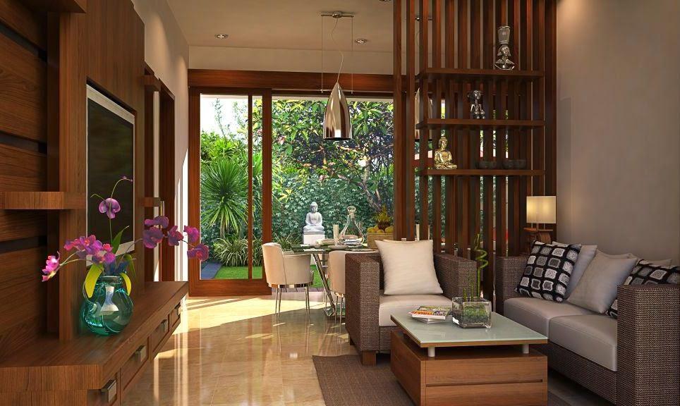 Ruang tamu rumah minimalis 6