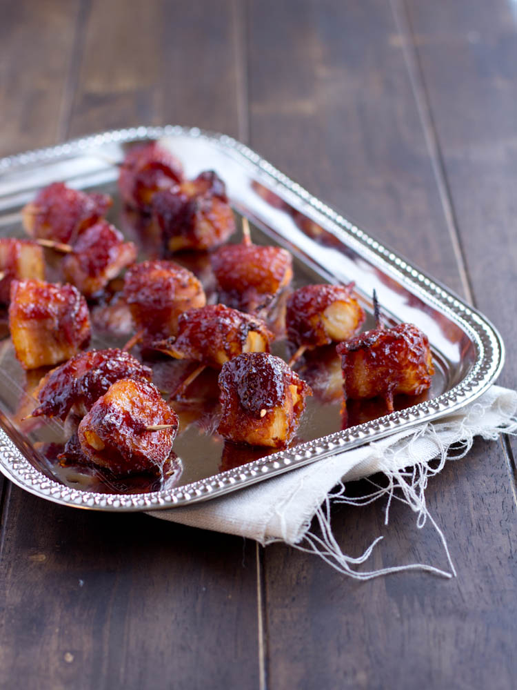 how to make bacon wrapped chestnuts