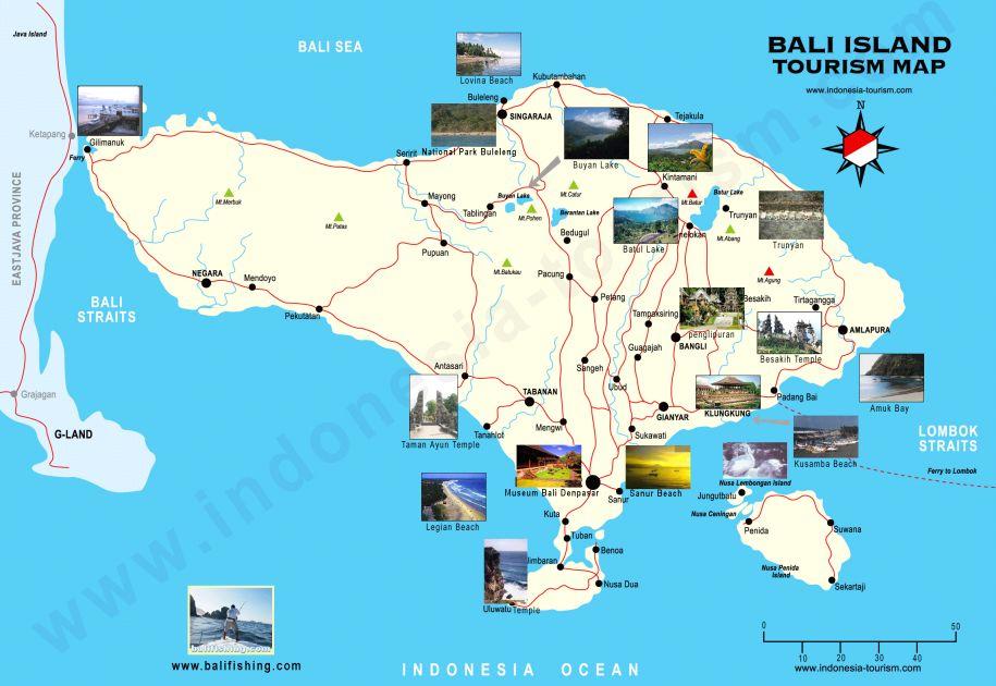 Bali, mapa, maps, Asia, Azja, Indonezja, Indonesia,