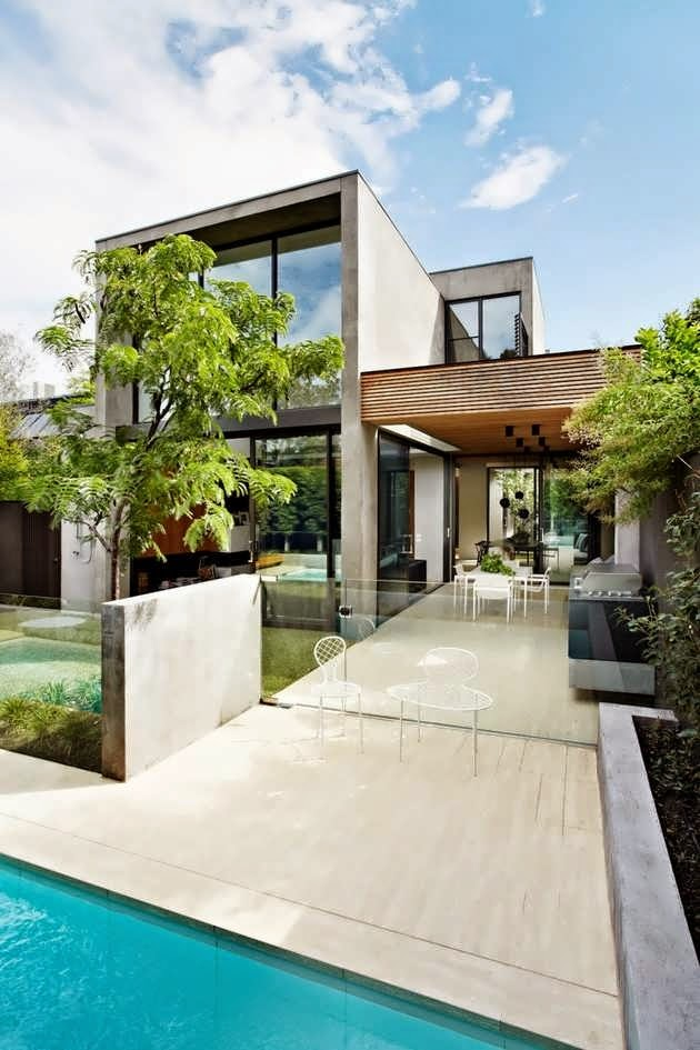 SOUTH YARRA CONTEMPORARY URBAN HOUSE DESIGN WITH SHAPE AS