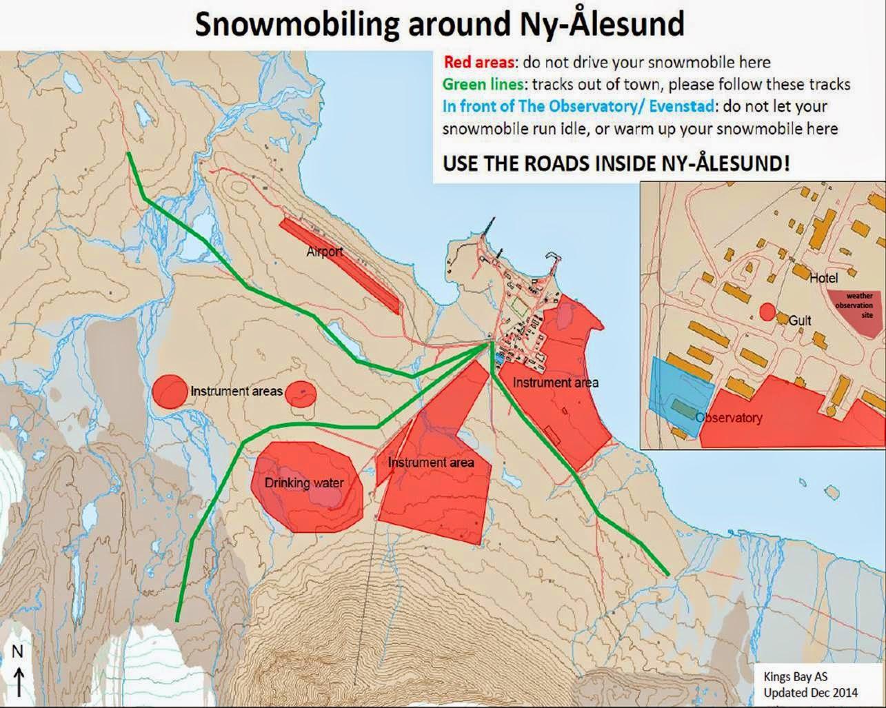 Feltlogg Nylesund Snowmobiling around Nylesund
