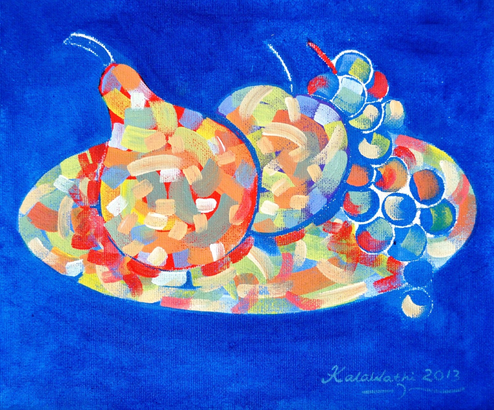 Kalawathi Kunst Vangogh Stil Wassily Kandinsky Stil Pointillismus