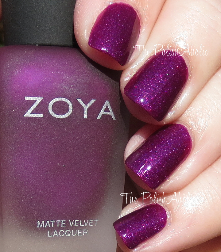 The PolishAholic Zoya Winter 2015 Matte Velvet Collection Swatches Review