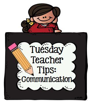 Tuesday Teacher Tips: Communication at Fern Smith's Classroom Ideas and Teach123.