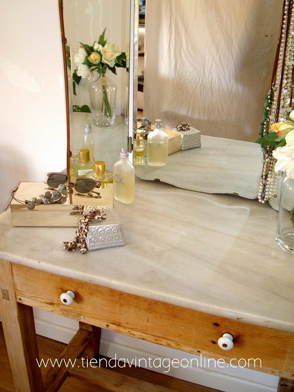 Kp tienda vintage online espejo triptico antiguo vintage french mirror ref e15 - Espejos vintage ...