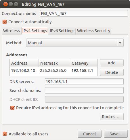 ubuntu how to set a fixed ip address