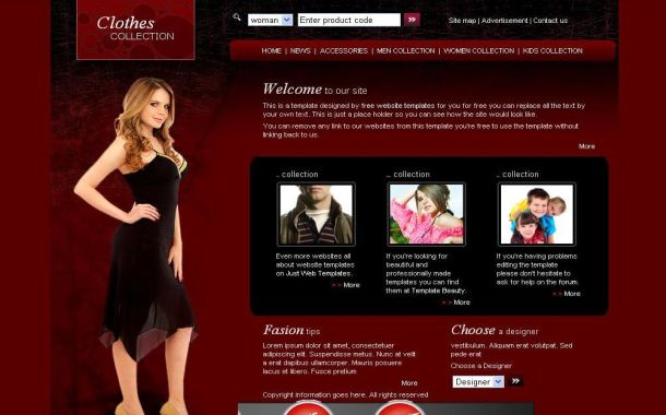 Free Fashion Sexy Brown CSS PSD Template